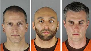 از چپ به راست: درک شاوین، پلیس متهم به قتل جورج فلوید، جی الكساندر كوئنگ ، توماس لین