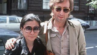 John Lennon y Yoko Ono llegan al estudio de grabación The Hit Factory, Nueva York, 22 de agosto de 1980,