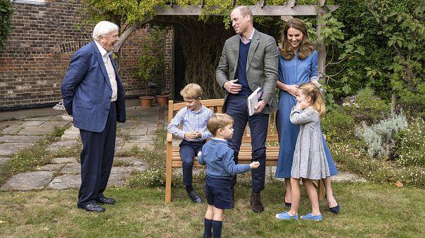 David Attenborough a herceg családja körében