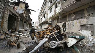 آسیب وارد شده به مناطق مسکونی استپاناکرت بر اثر آتش توپخانه