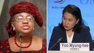 Министр финансов Нигерии Нгози Оконджо-Ивеала и министр торговли Южной Кореи Ю Мён Хи
