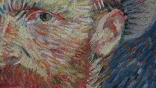 Fragmento de un autorretrato de Van Gogh