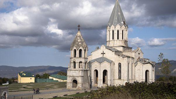 Dağlık Karabağ^da bir Ermen kilisesi