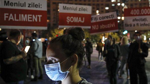 Vendéglátósok tüntettek Bukarestben