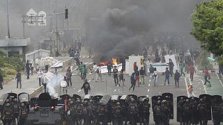 صورة من الارشيف- احتجاجات في جاكرتا