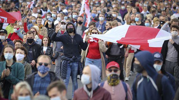 متظاهرون ضد الرئيس لوكاشنكو في بيلاروس