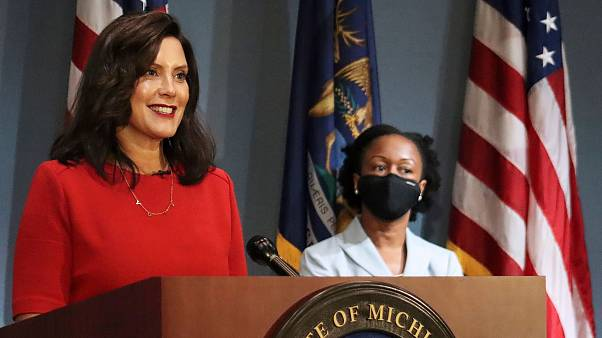 File photo of Governor Gretchen Whitmer who was the target of a 'militia' kidnapping plot