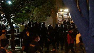 درگیری در مقابل بیمارستان جم تهران