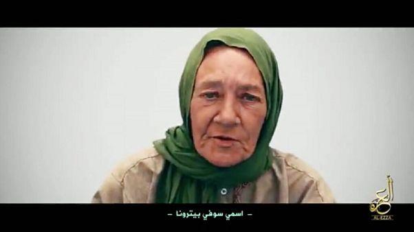 Sophie Pétronin - auf einem Video der Geiselnehmer