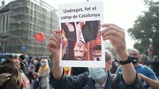 Manifestación contra la visita del rey Felipe VI a Barcelona