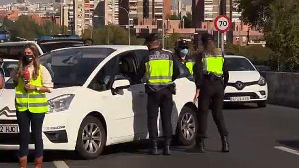 Полиция проверяет автомобили в Мадриде