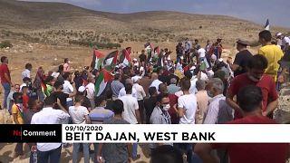 Auseinandersetzungen zwischen Palästinensern und israelischer Polizei