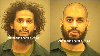 El Shafee Elsheikh (left) and Alexanda Kotey pleaded not guilty before a judge in the USA.