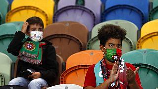 Im Stadion in Lissabon
