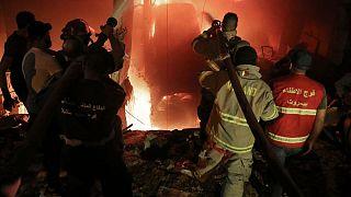 انفجار انبار مازوت در بیروت