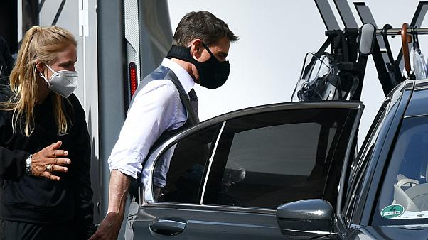 Tom Cruise a római forgatáson