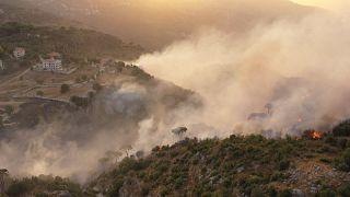 Les incendies ravagent le Mont Liban
