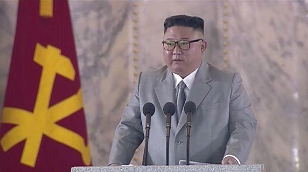 Kuzey Kore Devlet Başkanı Kim Jong Un, İşçi Partisi'nin 75. kuruluş yıl dönümü için düzenlenen törende konuştu