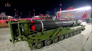 مجتزأ من فيديو نشره الإعلام (الحكومي) الكوري الشمالي