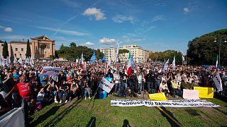 مظاهرات روما