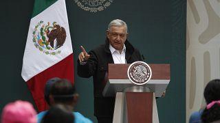 Andres Manuel Lopez Obrador en un acto en septiembre