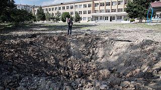 آثار قصف سابق في ستيباناكرت