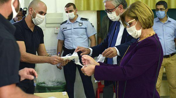 Der aktuelle Präsident von Nordzypern mit seiner Frau