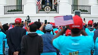 Black American 'BLEXIT' Rally at the US White House for Trump Speech