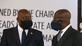 Ghanaian President Nana Akufo-Addo on an ECOWAS Mission in Mali
