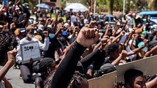 Manifestation anti-feminicide à Windhoek, en Namibie