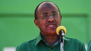 Hussein Mwinyi en campagne pour la présidence de Zanzibar