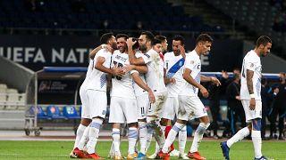 Στιγμιότυπο από το ματς Ελλάδα - Μολδαβία για το Nations League