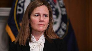 المرشحة للمحكمة الأمريكية العليا القاضية إيمي كوني باريت في مبنى الكابيتول. واشنطن - 2020/10/01