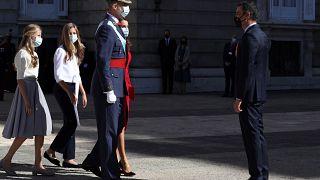 El Rey de España Felipe VI y el presidente del Gobierno Pedro Sánchez