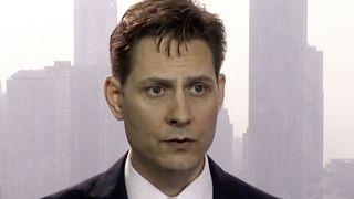 مايكل كوفريغ المستشار لدى منظمة دولية غير حكومية لإدارة الأزمات ومقرها في بروكسل يتحدث خلال مقابلة في هونغ كونغ. 2018/03/28