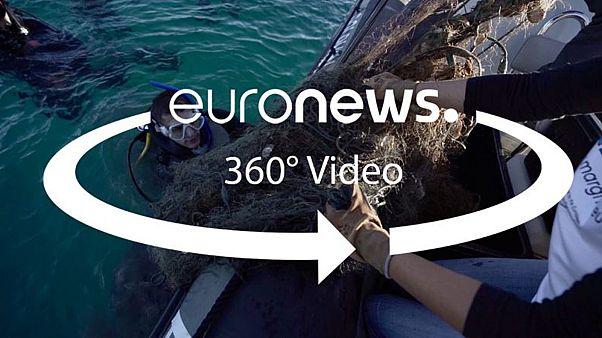 Видео 360: хорватские дайверы навели на дне порядок