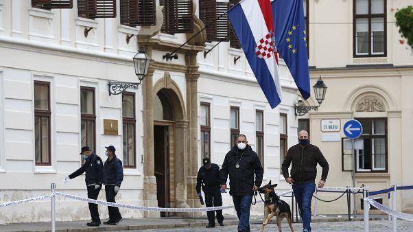 Local do tiroteio em Zagreb