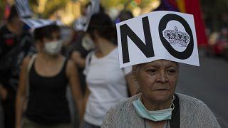 """İspanya'da temmuz ayında düzenenen """"Kraliyete hayır"""" protestosundan"""