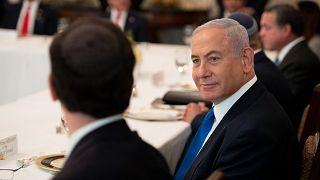 رئيس الوزراء الإسرائيلي بنيامين نتنياهو يحضر مأدبة غداء أقامها الرئيس الأمريكي دونالد ترامب  بعد التوقيع على الاتفاق، واشنطن 15 سبتمبر 2020