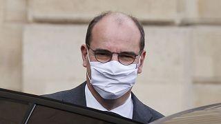 Le Premier ministre français, Jean Castex, quittant l'Elysée le 7 octobre 2020