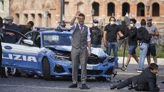 """شاهد: توم كروز يصور الجزء السابع من """"المهمة المستحيلة"""" في روما"""