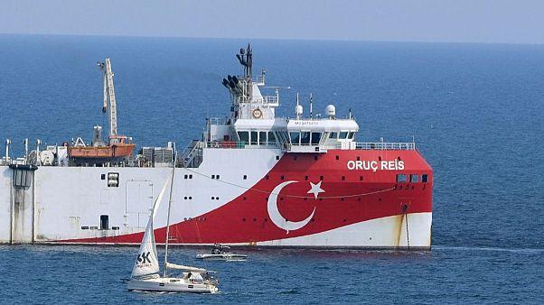 کشتی «اوروچ رئیس» ترکیه در شرق مدیترانه