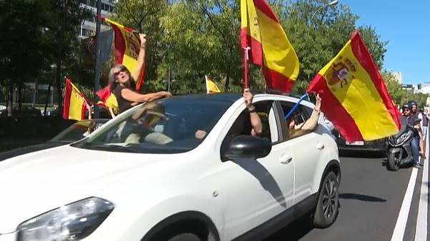 Kundgebung in Madrid