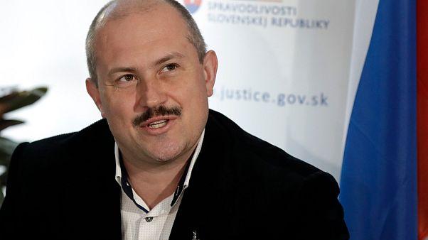 Slovak aşırı sağcı, ırkçı politikacı Marian Kotleba