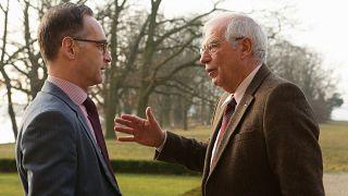 Heiko Maas and Josep Borrell Fontelles, on the right