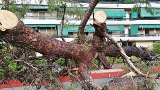 Νέο Ηράκλειο, καταστροφές από την καταιγίδα