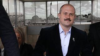 Marian Kotleba a szlovák Legfelsőbb Bíróságon 2020 február 29-én.