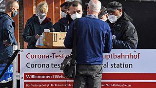 Corona-Testzentrum in Köln, 11.10.2020