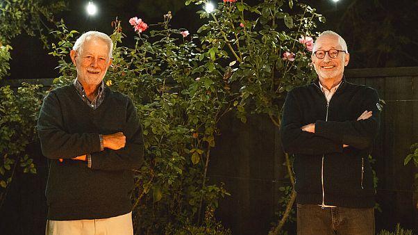 Robert Wilson, links, und Paul Milgrom in Stanford, Kalifornien,12.10.2020