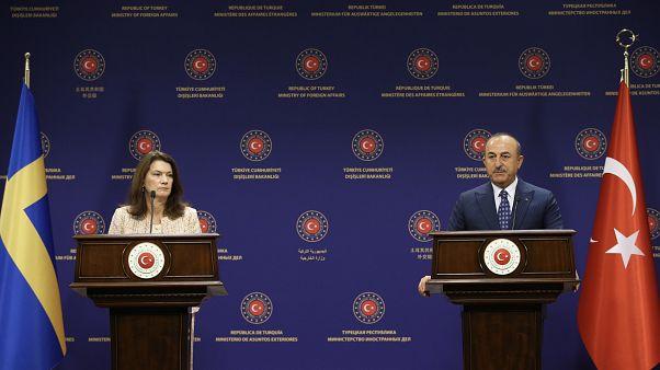Dışişleri Bakanı Mevlüt Çavuşoğlu İsveçli mevkidaşı Ann Lİnde ile ortak basın toplantısında